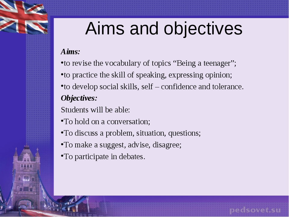 "Aims and objectives Aims: to revise the vocabulary of topics ""Being a teenage..."