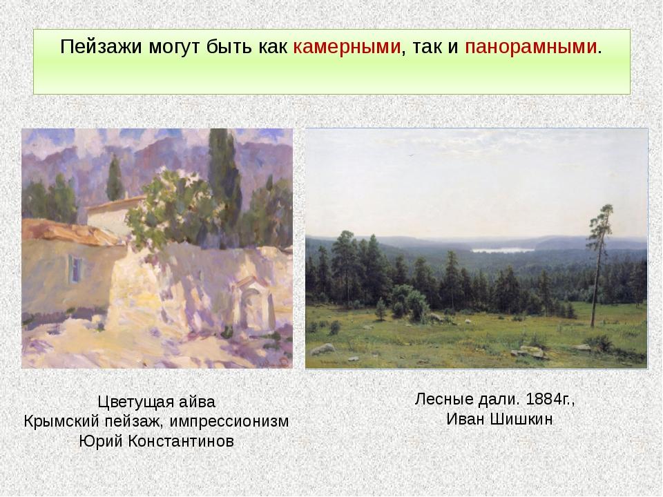 Пейзажи могут быть как камерными, так и панорамными. Цветущая айва Крымский п...