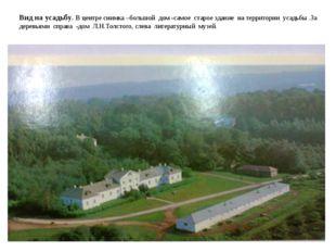Вид на усадьбу. В центре снимка –большой дом -самое старое здание на территор