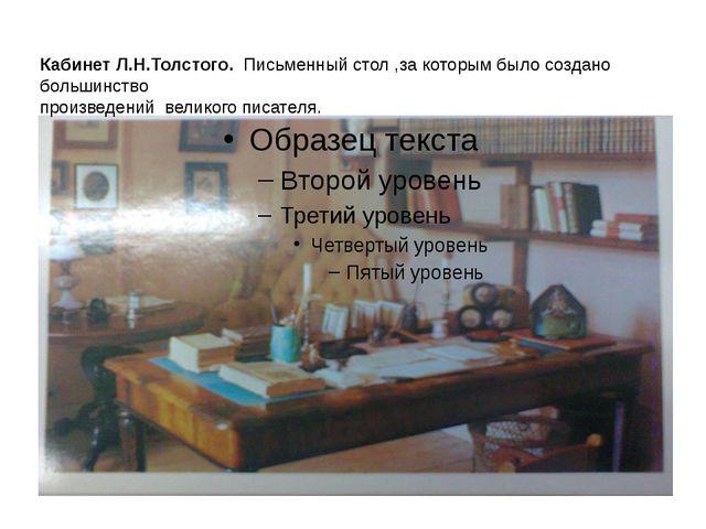 Кабинет Л.Н.Толстого. Письменный стол ,за которым было создано большинство пр...