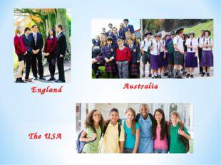 England Australia The USA