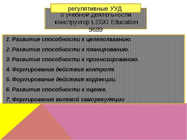 в учебной деятельности конструктор LEGO Education 9689 Развитие способности...