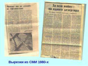Вырезки из СМИ 1980-х