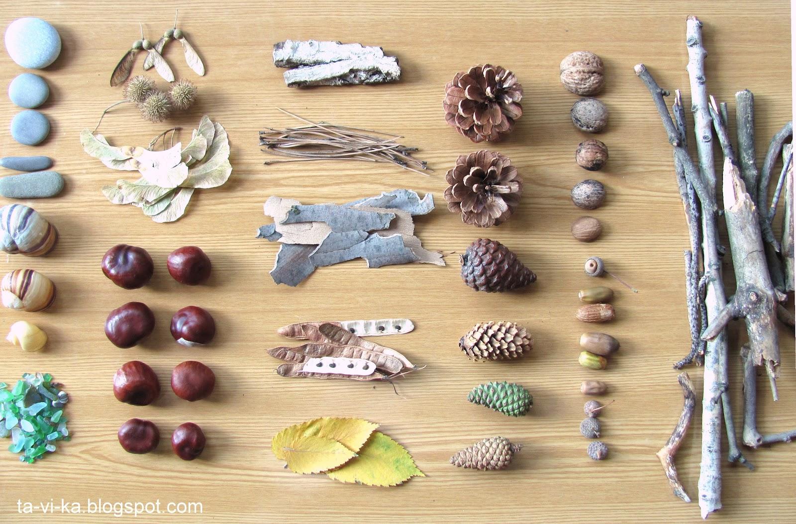 Поделка из камней и листьев 14