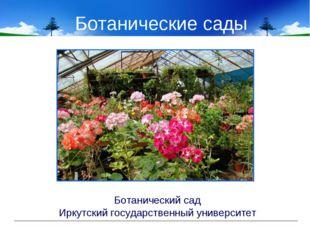 Ботанические сады Ботанический сад Иркутский государственный университет