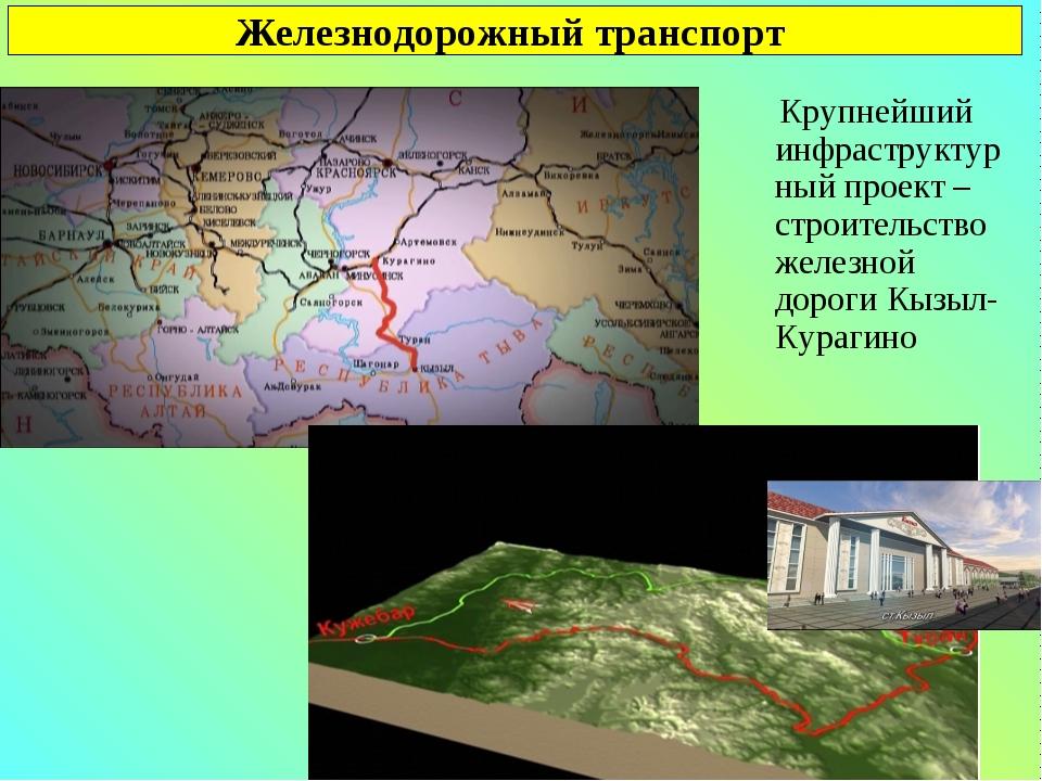 Железнодорожный транспорт Крупнейший инфраструктурный проект – строительство...