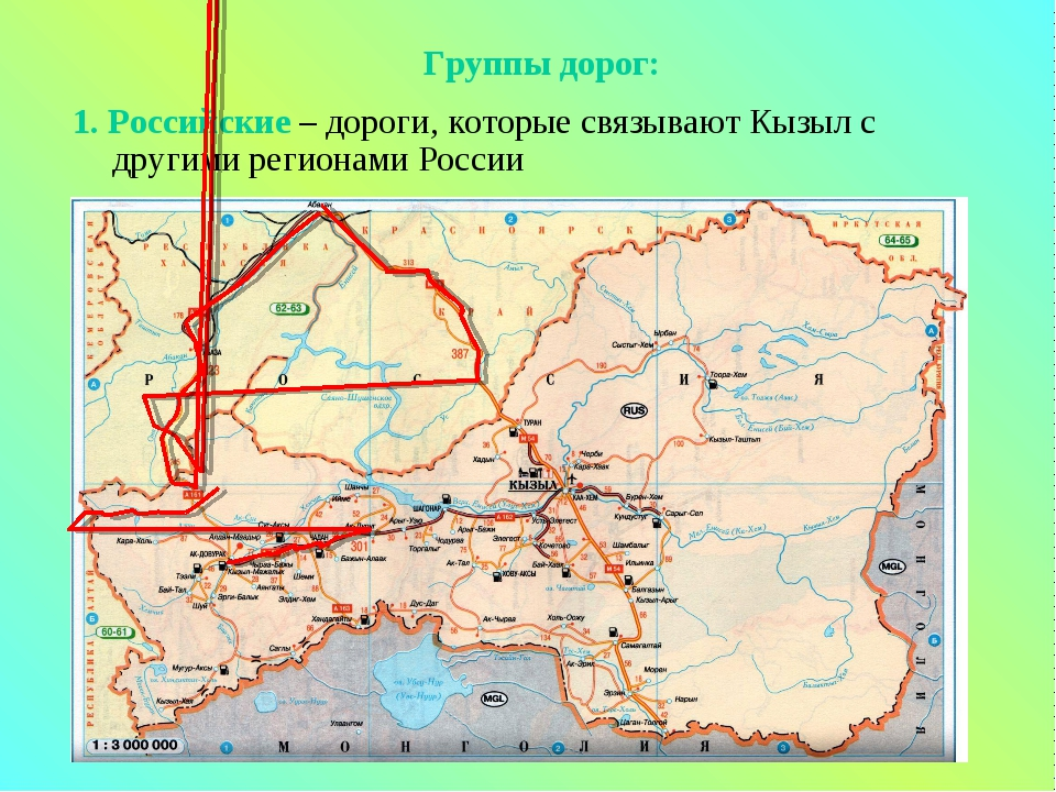 1. Российские – дороги, которые связывают Кызыл с другими регионами России Гр...
