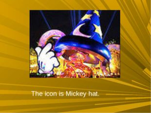 The icon is Mickey hat.