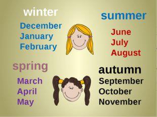 September October November June July August December January February March A