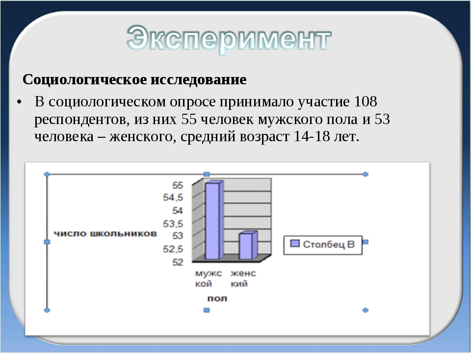 Социологическое исследование В социологическом опросе принимало участие 108...