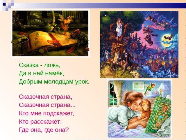 Сказка - ложь, Да в ней намёк, Добрым молодцам урок. Сказочная страна, Сказоч...