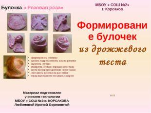 Материал подготовлен учителем технологии МБОУ « СОШ №2»г. КОРСАКОВА Любимовой
