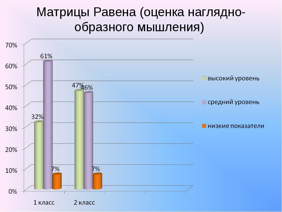 Матрицы Равена (оценка наглядно-образного мышления)