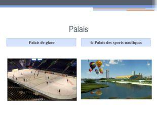 Palais Palais de glace le Palais des sports nautiques