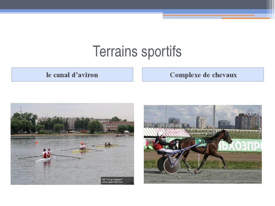 Terrains sportifs le canal d'aviron Complexe de chevaux