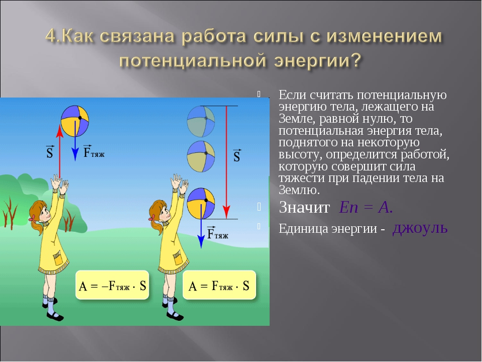 Если считать потенциальную энергию тела, лежащего на Земле, равной нулю, то п...