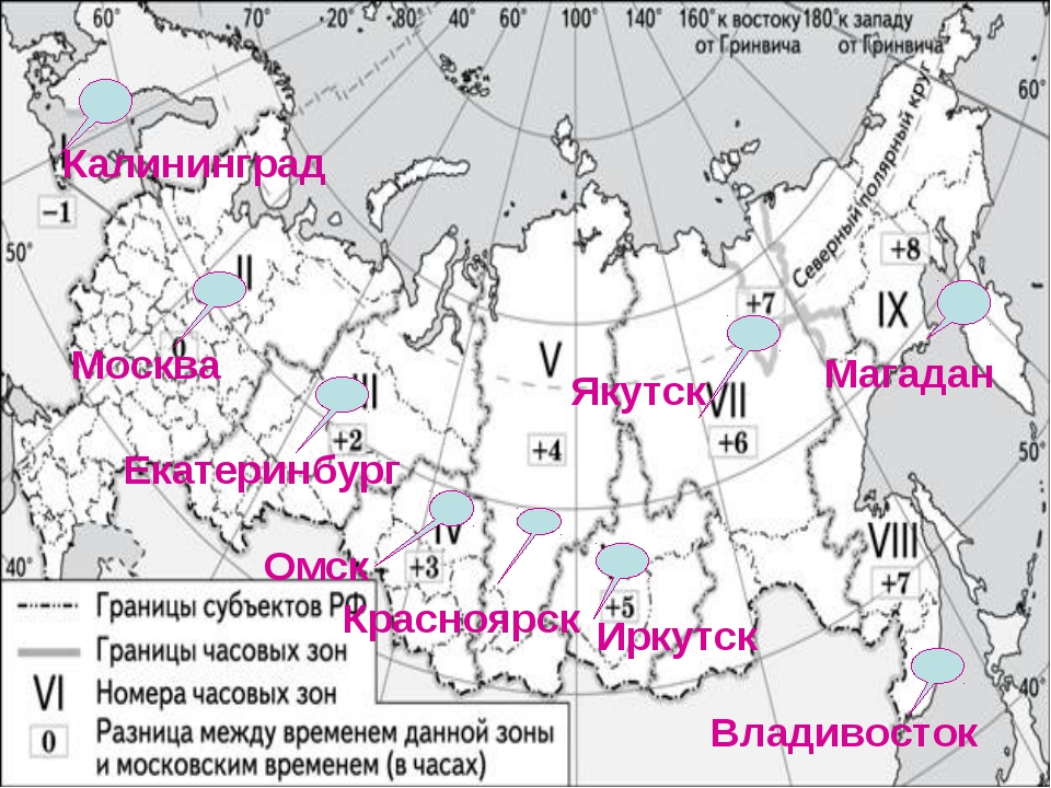 Калининград Москва Екатеринбург Омск Красноярск Иркутск Якутск Владивосток Ма...