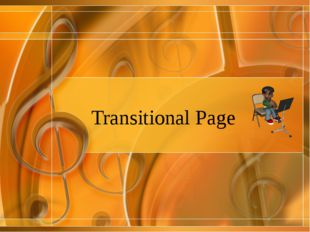 Transitional Page