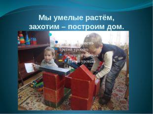 Мы умелые растём, захотим – построим дом.