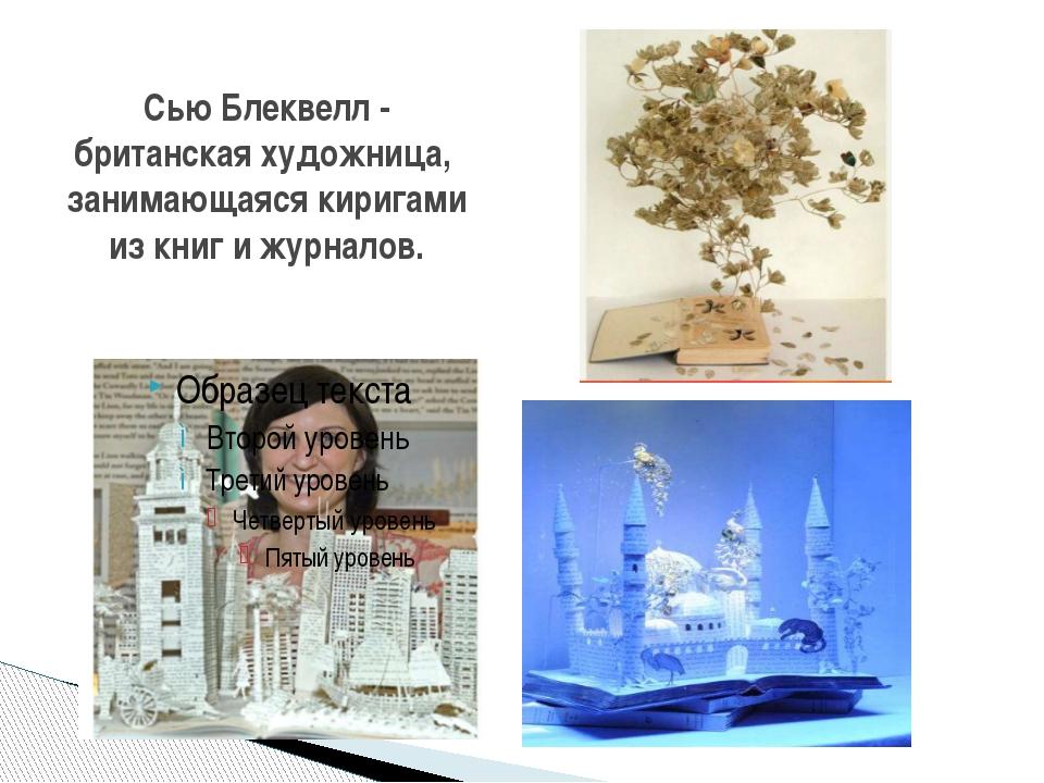 Сью Блеквелл - британская художница, занимающаяся киригами из книг и журналов.