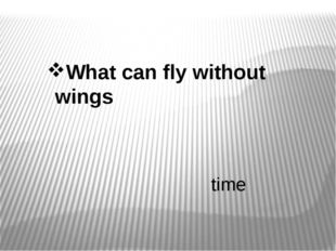 What can fly without wings time