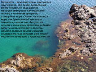 Тарханкут – воистину грань двух миров, двух стихий, ибо сухая, раскалённая ст