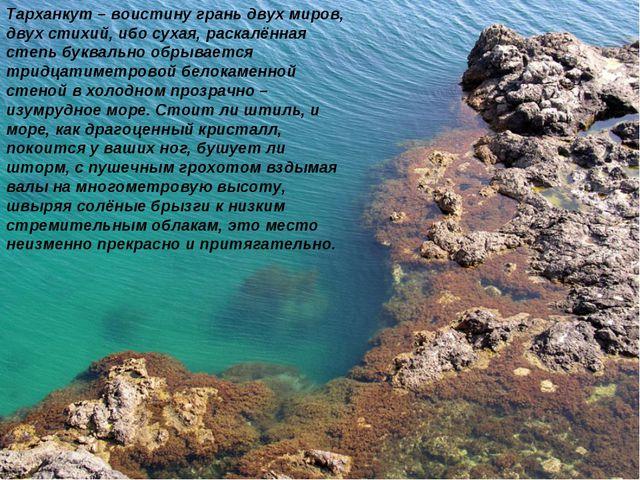 Тарханкут – воистину грань двух миров, двух стихий, ибо сухая, раскалённая ст...