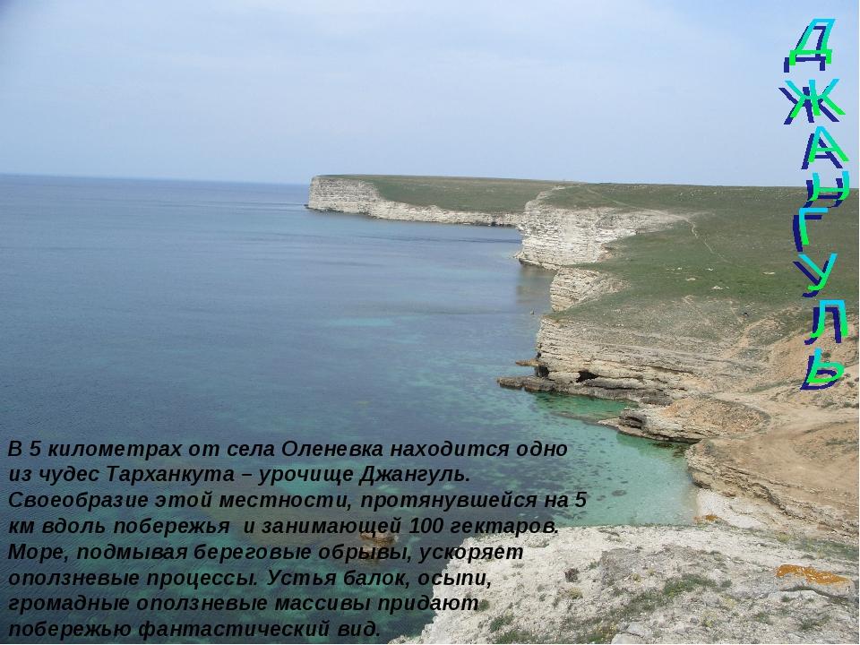 В 5 километрах от села Оленевка находится одно из чудес Тарханкута – урочище...