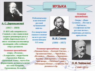 А. С. Даргомыжский (1813 – 1869) В 1835 году встретился с Глинкой, и это знак