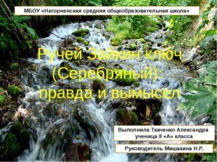 МБОУ «Нагорненская средняя общеобразовательная школа» Выполнила Ткаченко Алек
