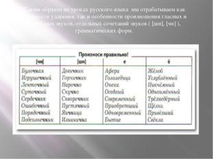 Таким образом на уроках русского языка мы отрабатываем как трудности ударения