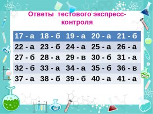 Ответы тестового экспресс-контроля 17 - а18 - б19 - а20 - а21 - б 22 - а