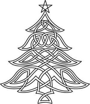 Celtic Christmas Tree Embroidery Pattern = @Ruth H. Murphy... Saw this thought of you...: