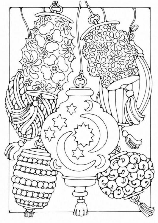 Coloring page Lanterns: