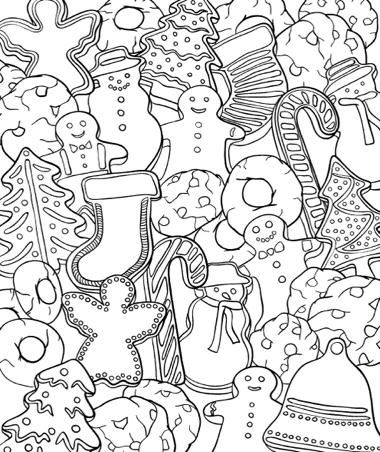 ChristmasScapes (Dover Holiday Coloring Book):