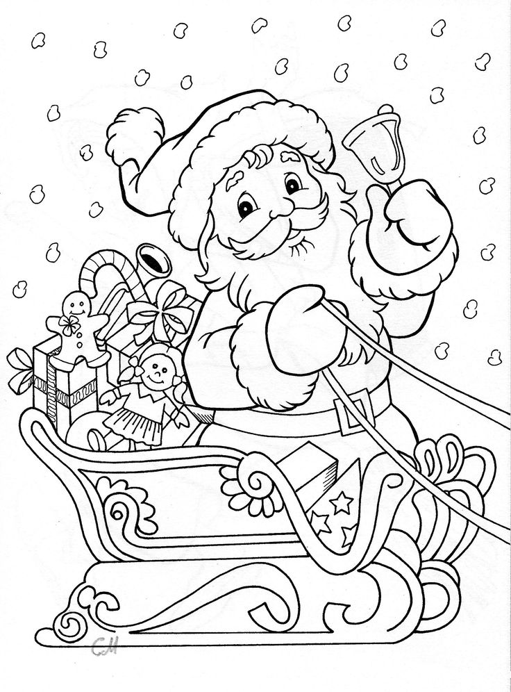 santa coloring: