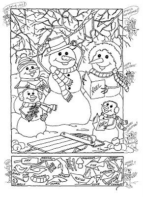 Hidden pictures christmas coloring sheet - - Pinned by @PediaStaff – Please visit http://ht.ly/63sNt for all (hundreds of) our pediatric therapy pins: