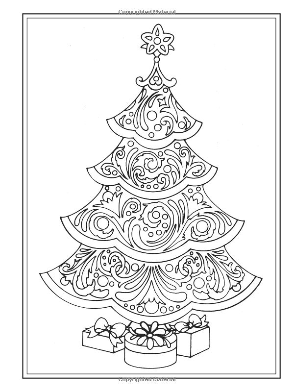 Creative Haven Christmas Trees Coloring Book (Creative Haven Coloring Books): Barbara Lanza: 0800759803903: Amazon.com: Books: