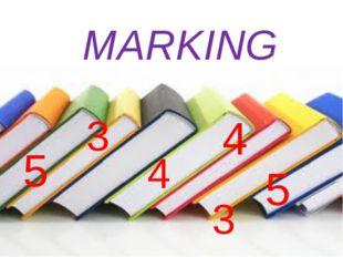 MARKING 5 4 5 4 3 3