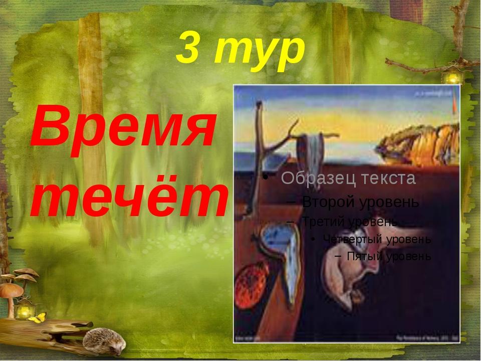 3 тур Время течёт