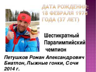 Шестикратный Паралимпийский чемпион Петушков Роман Александрович Биатлон, Лы