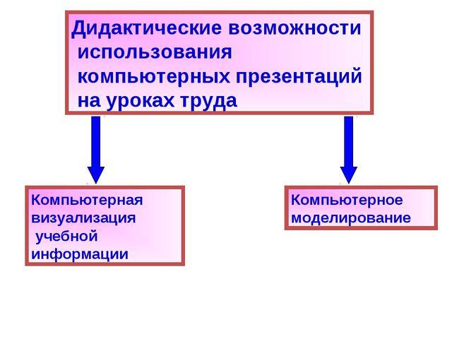 Дидактические возможности использования компьютерных презентаций на уроках тр...