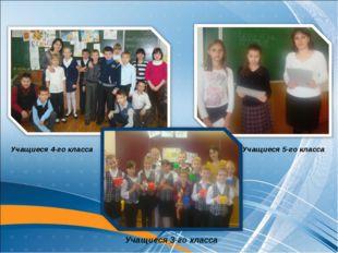 Учащиеся 4-го класса Учащиеся 3-го класса Учащиеся 5-го класса