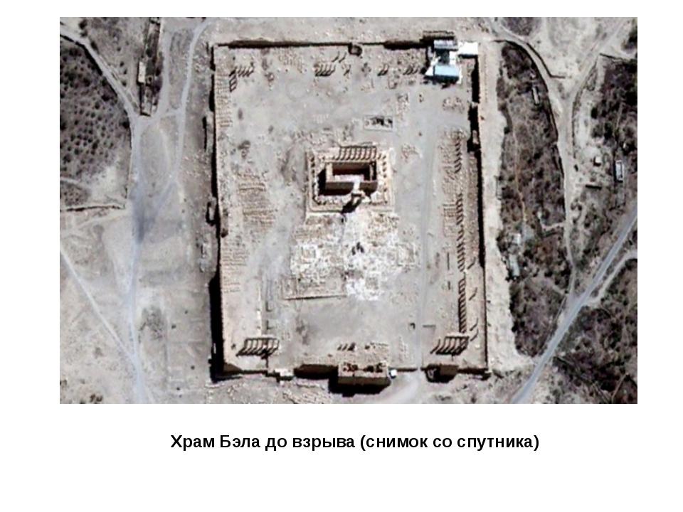 Храм Бэла до взрыва (снимок со спутника)