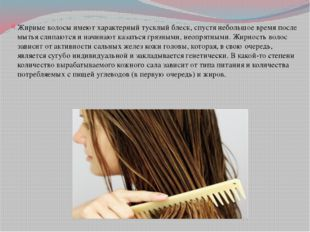 Жирные волосы имеют характерный тусклый блеск, спустя небольшое время после м