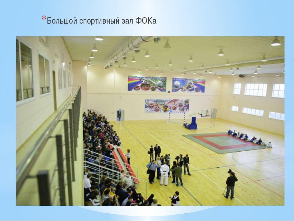 Большой спортивный зал ФОКа