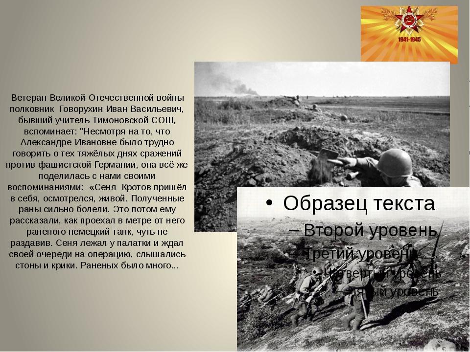Ветеран Великой Отечественной войны полковник Говорухин Иван Васильевич, бывш...