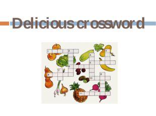 Delicious crossword