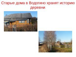 Старые дома в Водогино хранят историю деревни.
