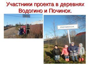 Участники проекта в деревнях Водогино и Починок.